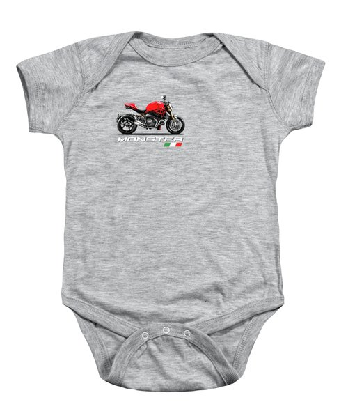 Monster 1200 Baby Onesie by Mark Rogan