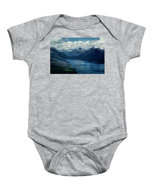 Montana Mountain Vista And Lake Baby Onesie