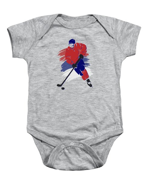 Montreal Canadiens Player Shirt Baby Onesie by Joe Hamilton