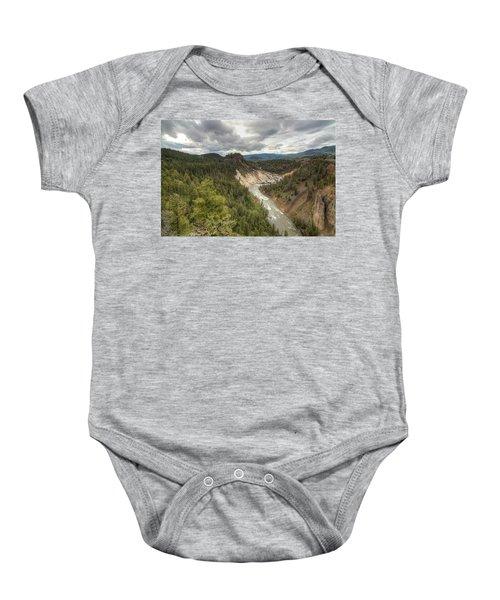 Moody Yellowstone Baby Onesie