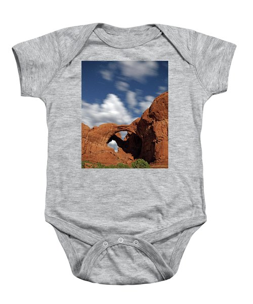 Moonlight On Double Arch In Arches Np Baby Onesie