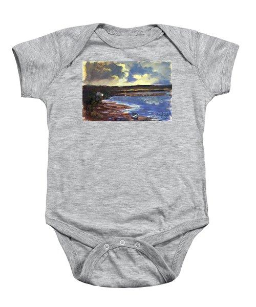Moonlit Beach Baby Onesie