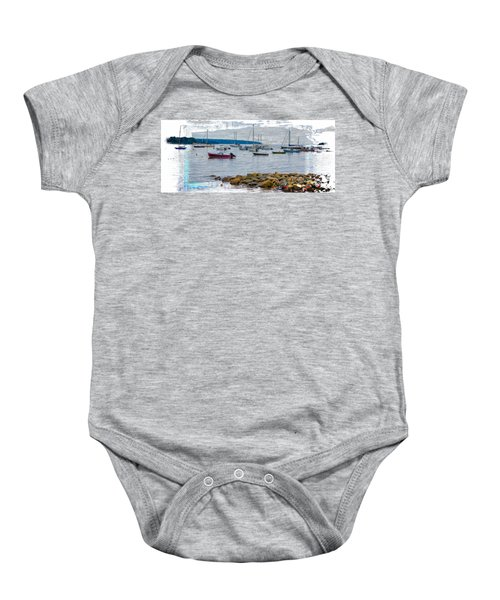 Moorings Mug Shot Baby Onesie by John M Bailey