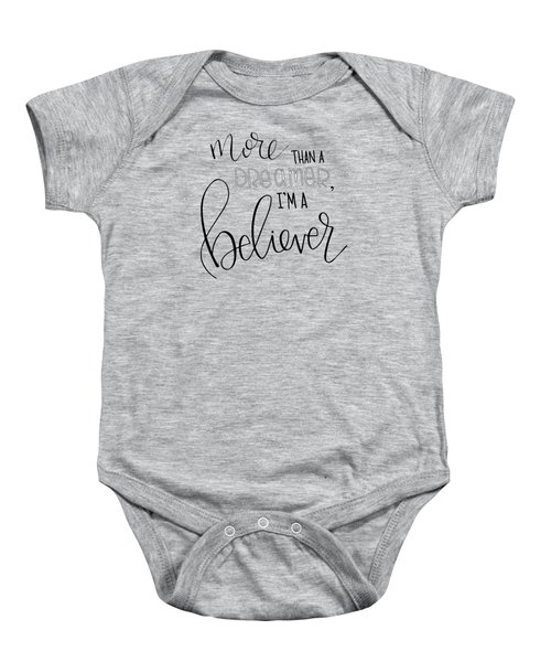 More Than A Dreamer Baby Onesie