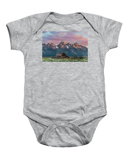 Mormon Row Baby Onesie
