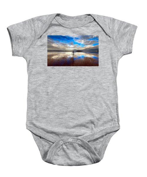 Morning Arrival At Lake Ballard Baby Onesie