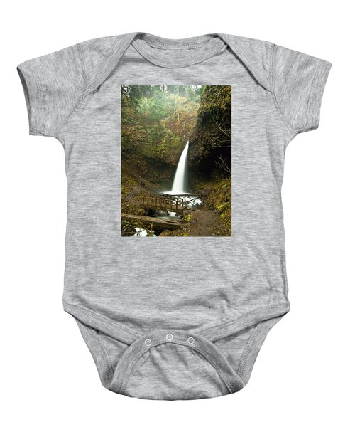 Morning At The Waterfall Baby Onesie
