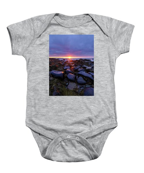 Morning Fire, Sunrise On The New Hampshire Seacoast  Baby Onesie