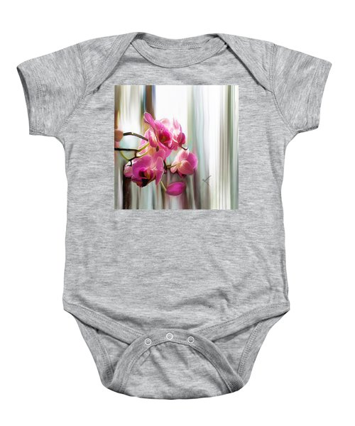 Morning Light Orchids Baby Onesie