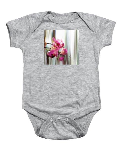 Morning Light Orchids Baby Onesie