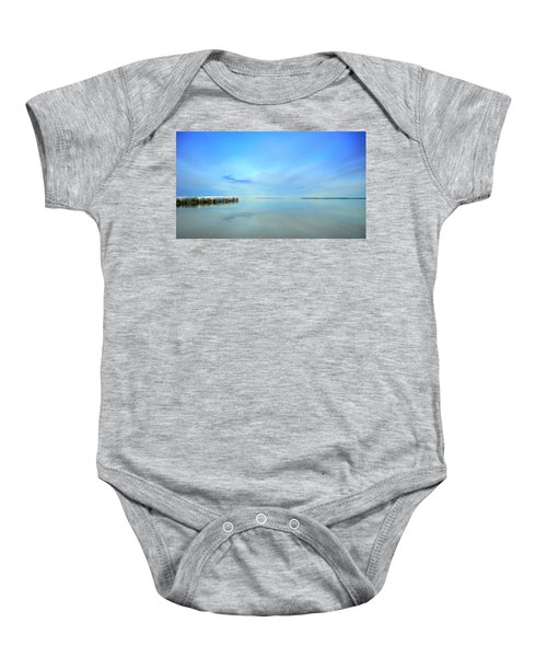 Morning Sky Reflections Baby Onesie