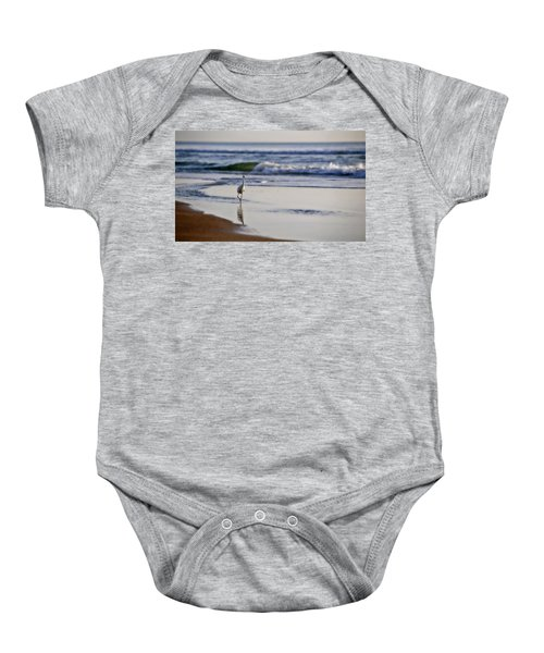 Morning Walk At Ormond Beach Baby Onesie