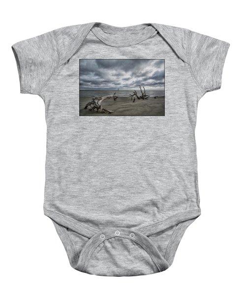 Morris Island Lighthouse Baby Onesie