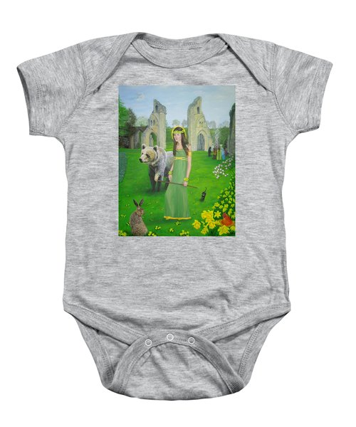 Mother Of Fire Goddess Artha - Spring Equinox Baby Onesie