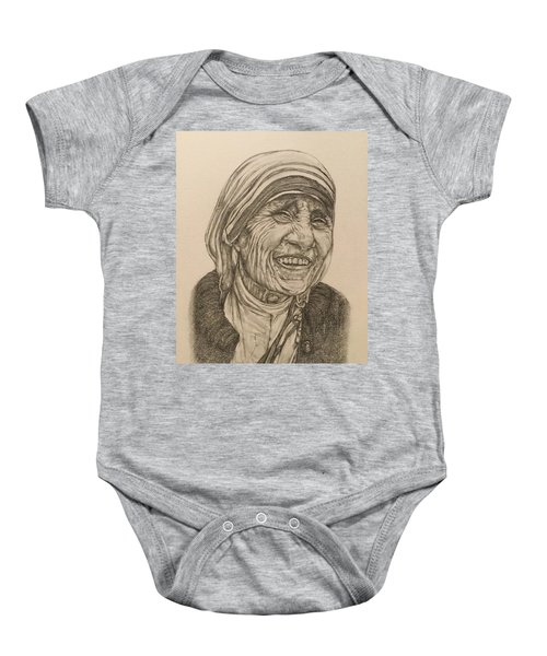 Mother Theresa Kindness Baby Onesie by Kent Chua