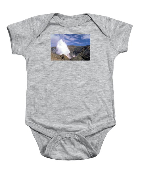 Mount Aso Baby Onesie by Travel Pics