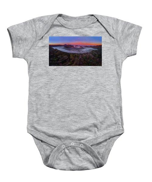 Mount Bromo Misty Sunrise Baby Onesie