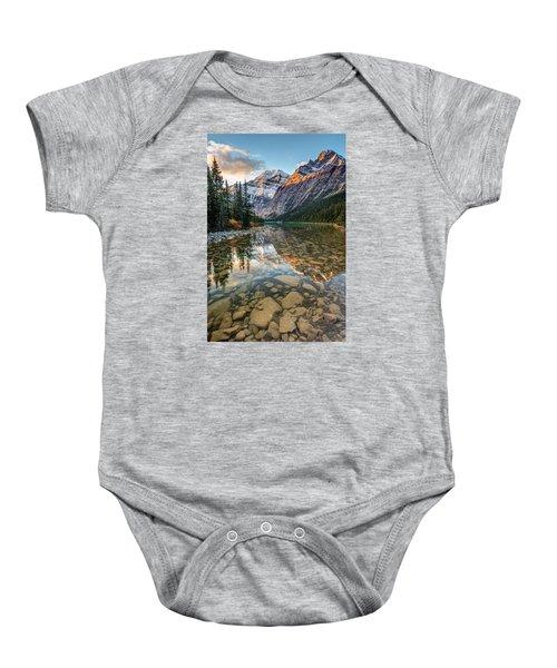 Mount Edith Cavell Sunrise Baby Onesie
