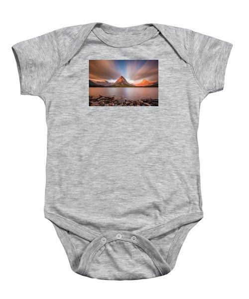 Mount Grinnell Sunrise Baby Onesie