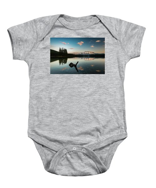Mount Rundle And Two Jack Lake Baby Onesie