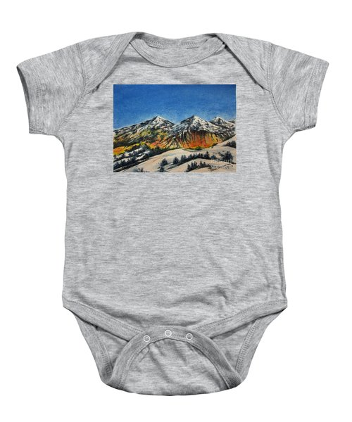 Mountain-5 Baby Onesie