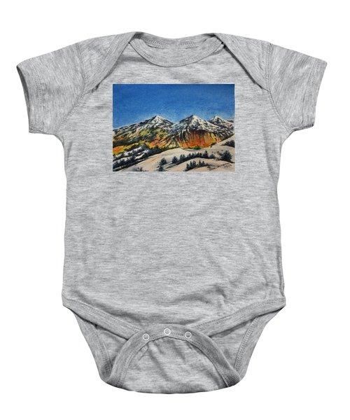 Mountain-5 Baby Onesie