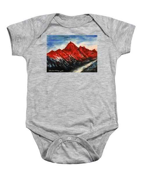 Mountain-7 Baby Onesie