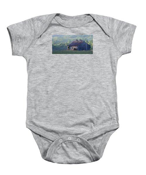 Mountain Cabin Baby Onesie