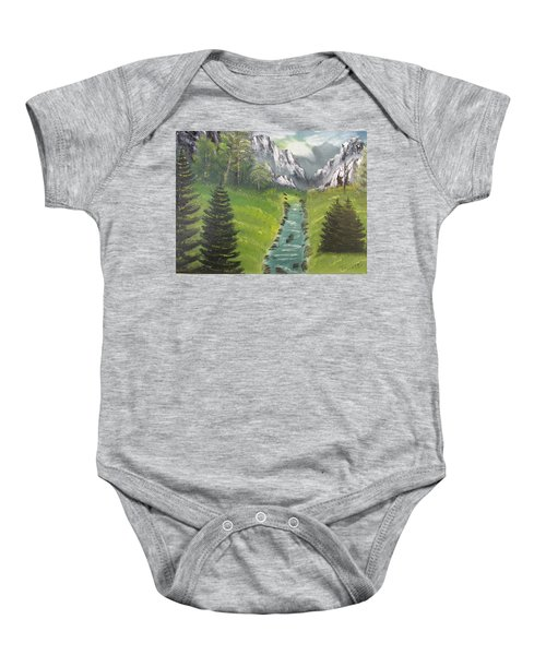 Mountain Meadow Baby Onesie