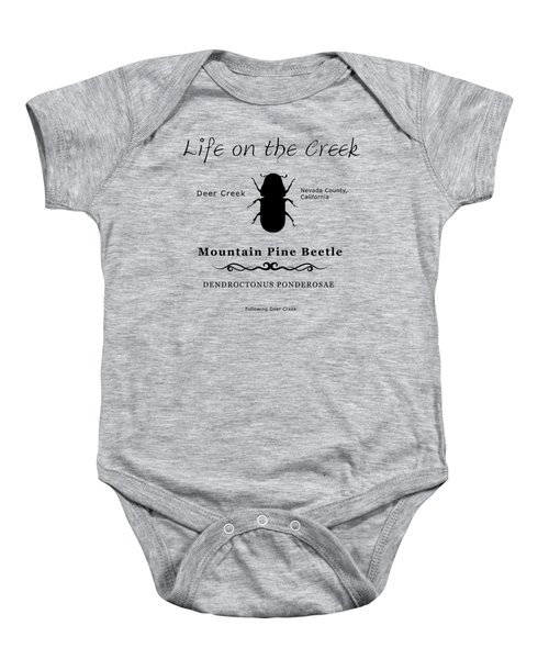 Mountain Pine Beetle Black On White Baby Onesie