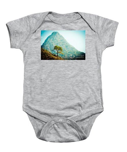Mountain With Pine Artmif.lv Baby Onesie