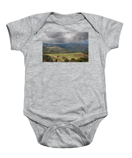 Mountains And Clouds Baby Onesie