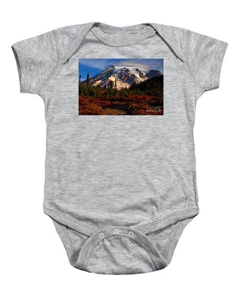 Mt. Rainier Paradise Morning Baby Onesie