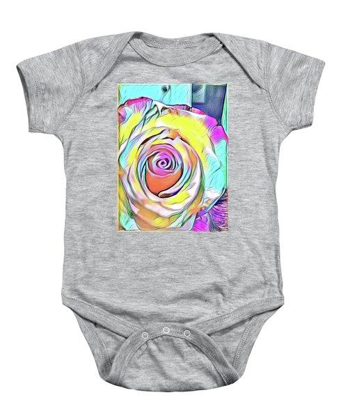 Multi-colored Rose Baby Onesie