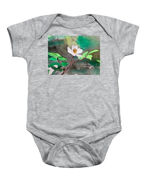 Multiflora Rosa Baby Onesie