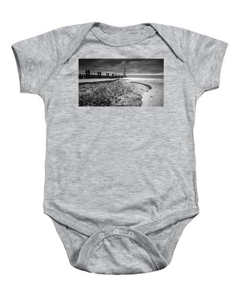 Mundesley Beach - Mono Baby Onesie