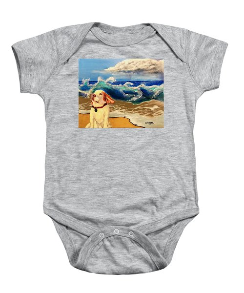 My Dog And The Sea #1 - Beagle Baby Onesie