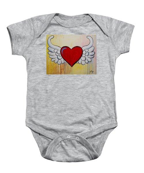 My Heart Has Wings Baby Onesie