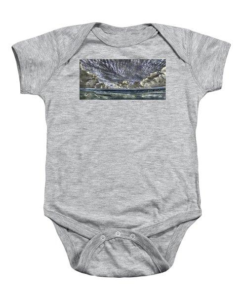 Myrtle Beach Hand Tinted Panorama Sunrise Baby Onesie