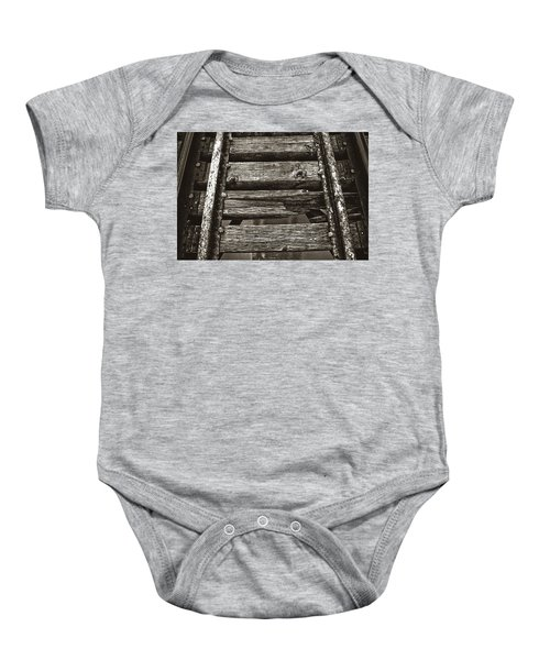Narrow Gauge Tracks #photography #art #trains Baby Onesie
