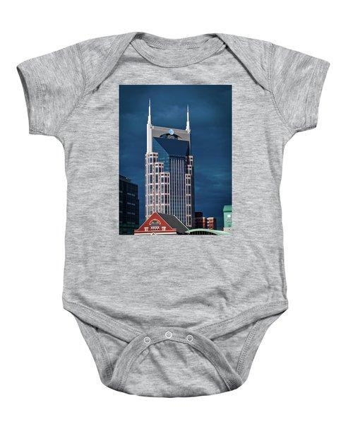 Nashville Landmarks Baby Onesie