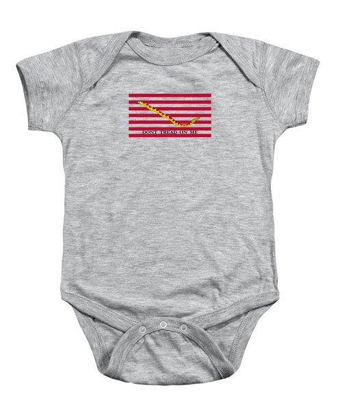 Navy Jack Flag - Don't Tread On Me Baby Onesie