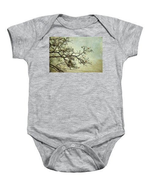 Nearly Bare Branches Baby Onesie
