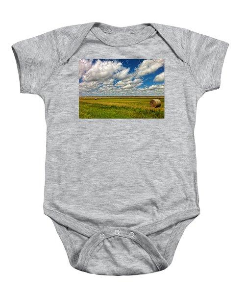 Nebraska Wheat Fields Baby Onesie