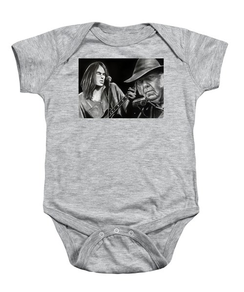 Neil Young And Neil Old Baby Onesie