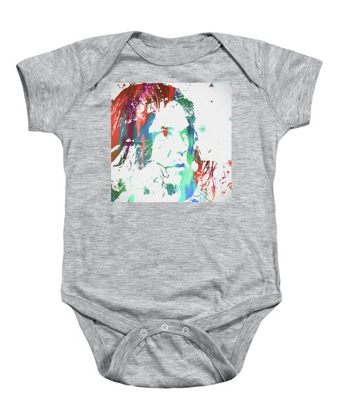 Neil Young Paint Splatter Baby Onesie