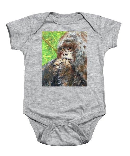 Nervous Mama Gorilla Baby Onesie