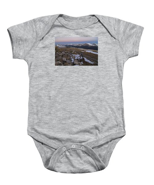 Baby Onesie featuring the photograph Never Summer Range by Gary Lengyel