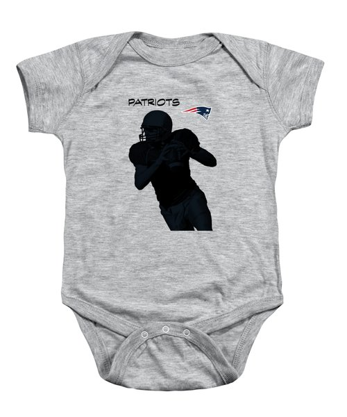 Baby Onesie featuring the digital art New England Patriots Football by David Dehner