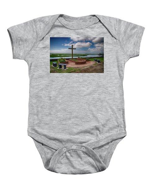 New Garden Cross At Belin Umc Baby Onesie